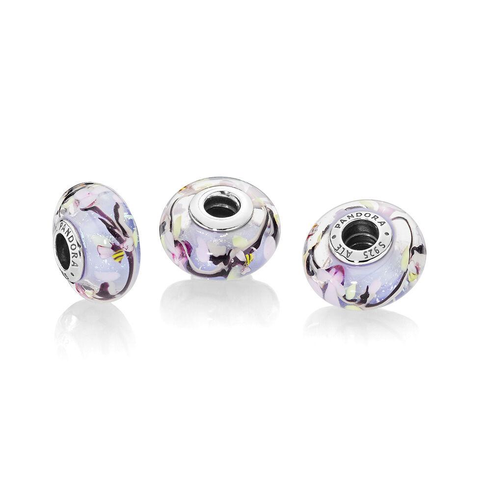 Enchanted Garden Murano Glass Charm Pandora Jewellery