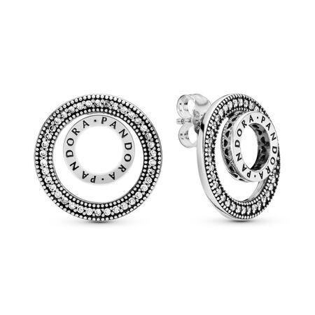 Boucles d'oreilles Signature PANDORA pour toujours, cz incolore, Argent sterling, Aucun autre matériel, Aucune couleur, Zircon cubique - PANDORA - #297446CZ