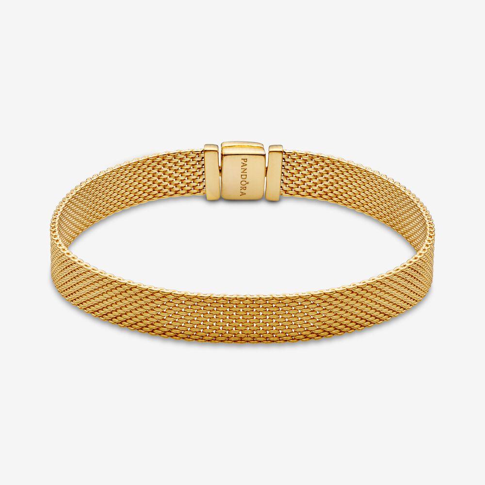 Pandora Reflexions Mesh Bracelet | Gold plated | Pandora Canada