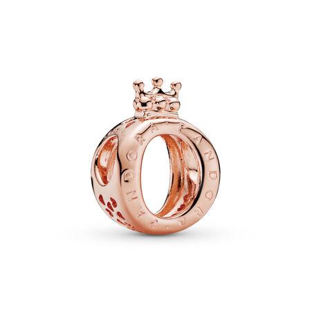 Charm en forme de «O» couronné PANDORA, PANDORA Rose