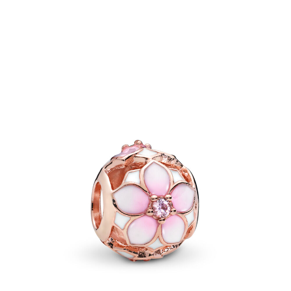81cfcd36f Magnolia Bloom Charm, PANDORA Rose™, Blush Pink Crystal and Mixed Enamel