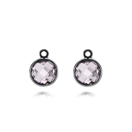 Elegance, light colour amethyst, Sterling Silver Oxidised, Purple, Amethyst - PANDORA - #290662PAM