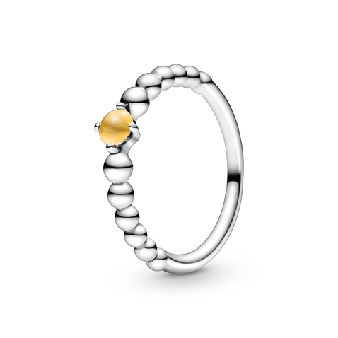 November Honey Beaded Ring