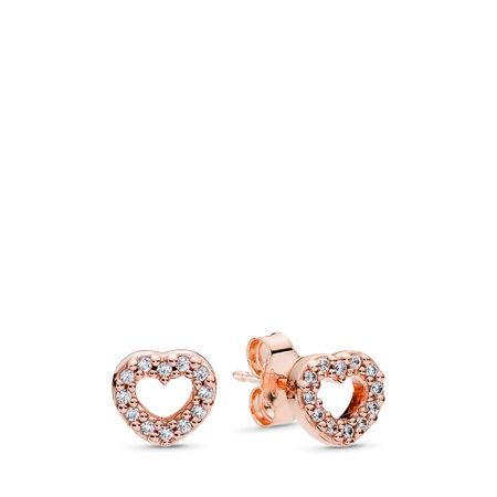 Captured Hearts, PANDORA Rose™ &  Clear CZ, PANDORA Rose, Cubic Zirconia - PANDORA - #280528CZ
