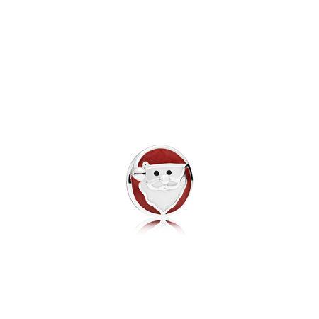 Jolly Santa Petite Charm, Mixed Enamel
