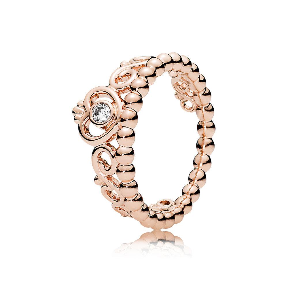 my princess tiara ring in pandora rose with cz