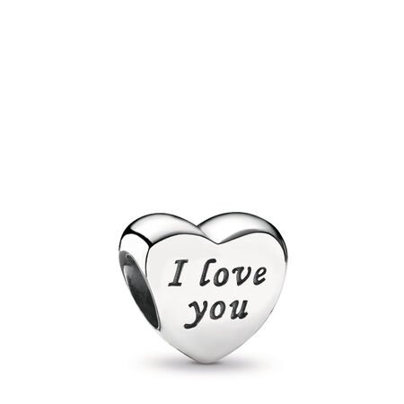 Words Of Love Engraved Heart, Sterling silver - PANDORA - #791422