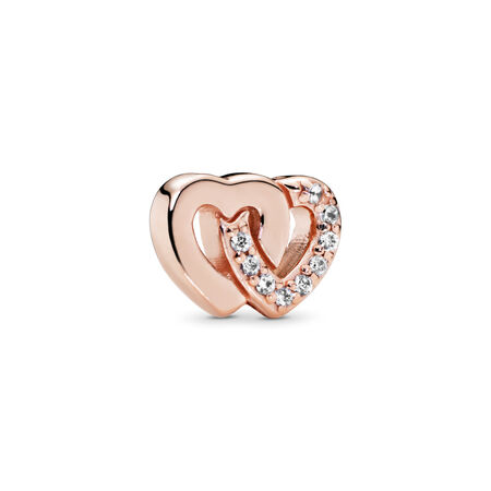 Interlocked Hearts Petite, PANDORA Rose™ & Clear CZ