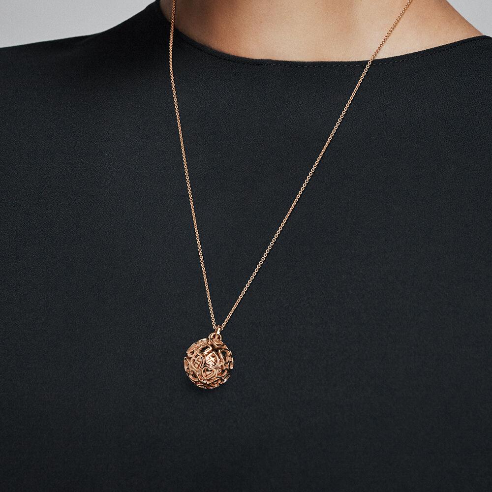 Harmonious Hearts Chime Necklace Pandora Rose Pandora