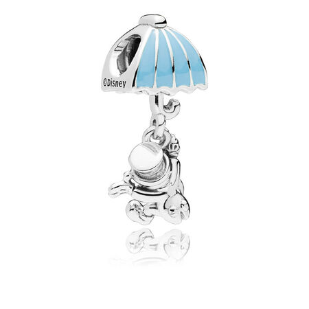 Disney, Jiminy Cricket Dangle Charm, Blue Enamel
