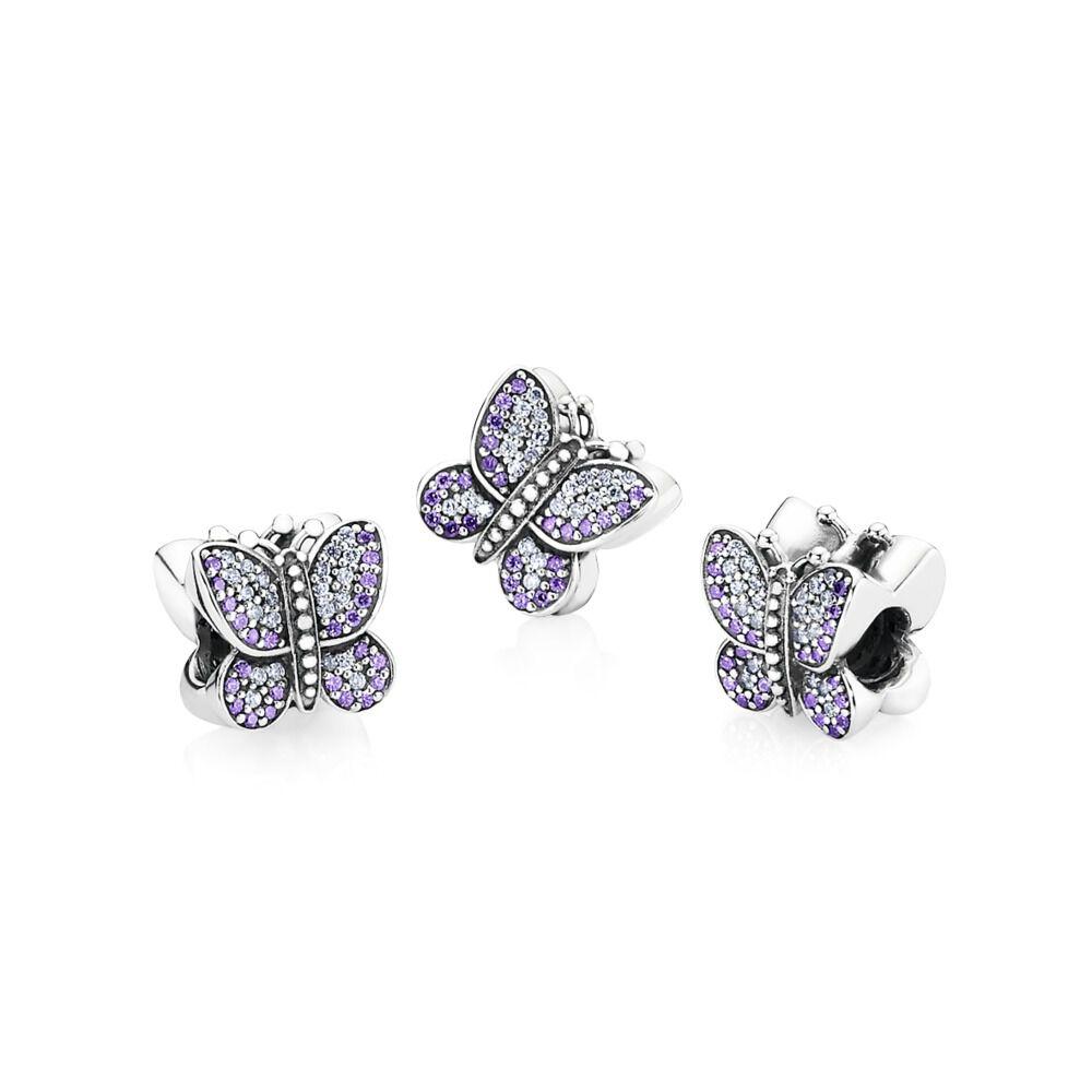 2b8944e5951b8 Sparkling Butterfly, Purple CZ