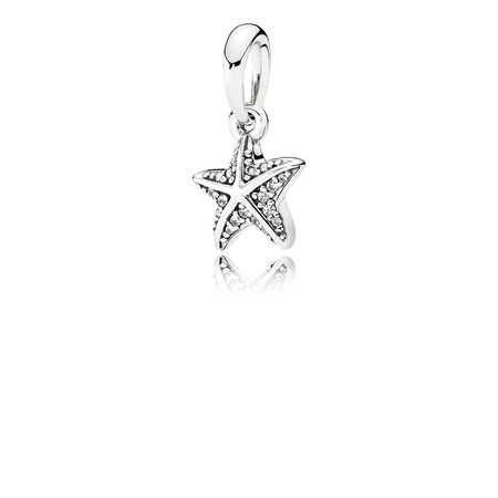 Tropical Starfish, Clear CZ
