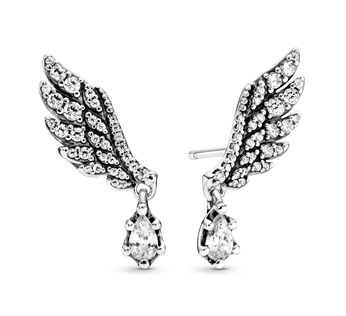 Dangling Angel Wing Stud Earrings