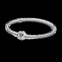 Bracelet à fermoir infini en cœur et à chaîne serpentine PandoraMoments