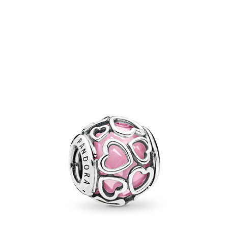 Encased in Love, Pink CZ, Sterling silver, Pink, Cubic Zirconia - PANDORA - #792036PCZ