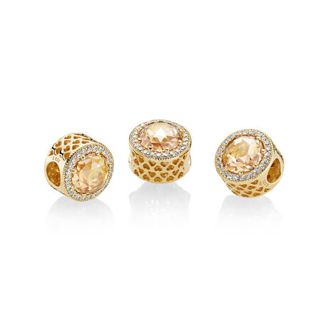 Radiant Hearts Charm, PANDORA Shine™ & Multi-coloured CZ