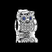 Graduate Owl, Swiss Blue Crystal & Clear CZ