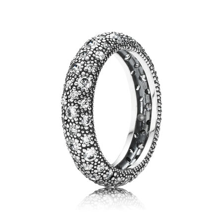 Cosmic Stars Ring, Clear CZ, Sterling silver, Cubic Zirconia - PANDORA - #190915CZ
