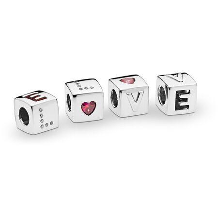Charm Dés d'amour, Argent sterling, Aucun autre matériel, Aucune couleur, Zircon cubique - PANDORA - #797811CZR