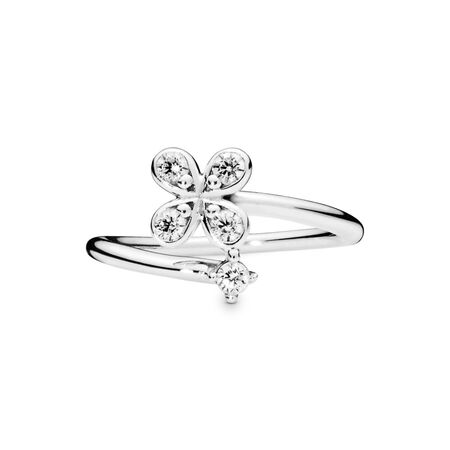Four-Petal Flower Ring