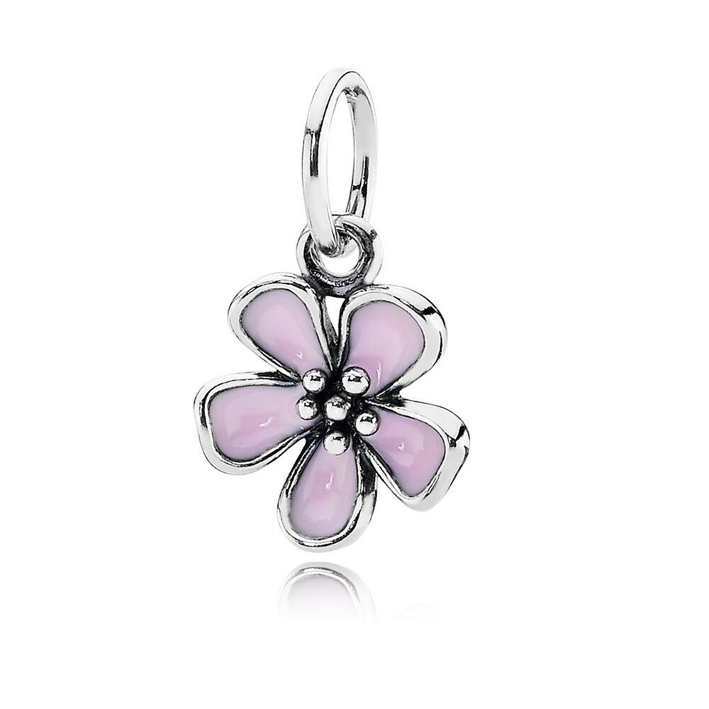 Discount Pandora Cherry Blossom With Pink Enamel Stackable Ring