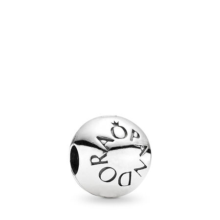 Loving PANDORA Logo Clip, Sterling silver - PANDORA - #791015