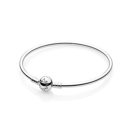Sterling Silver Charm Bangle Bracelet