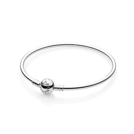 link sterling bracelet hand bangle silver bangles charm connected smooth bracelets hearts love chain frosted