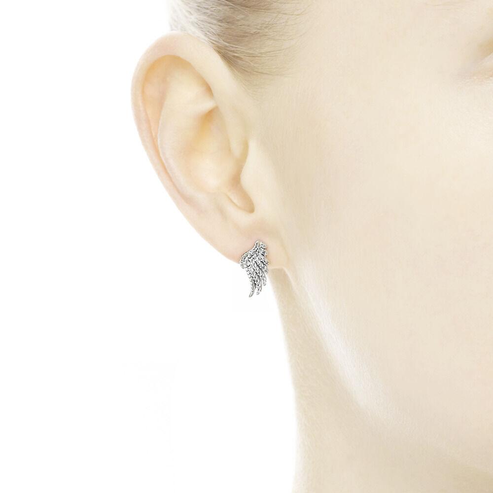 fd86c28d4 Majestic Feathers, Clear CZ, Sterling silver, Cubic Zirconia - PANDORA -  #290581CZ
