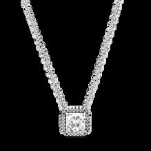Square Sparkle Halo Necklace