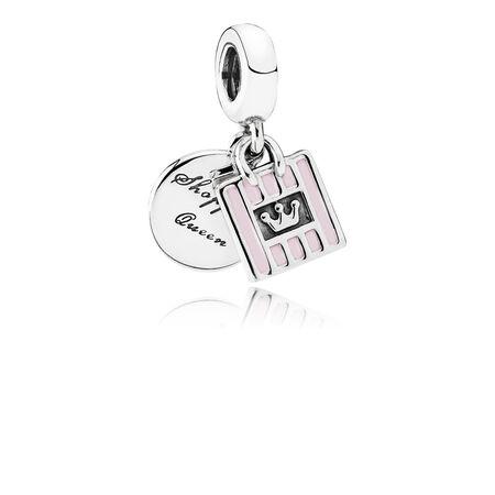 Reine du magasinage, émail rose tendre, Argent sterling, émail, Rose, Aucune pierre - PANDORA - #791985EN40