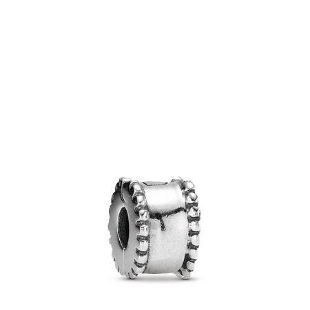 Beveled Clip, Sterling silver - PANDORA - #790267