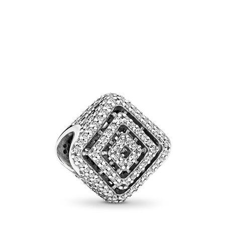 Geometric Lines, Clear CZ, Sterling silver, Cubic Zirconia - PANDORA - #796211CZ