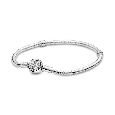 Sparkling Heart, Clear CZ, Sterling silver, Cubic Zirconia - PANDORA - #590743CZ