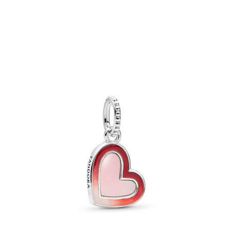 Charm-pendentif Cœur d'amour asymétrique