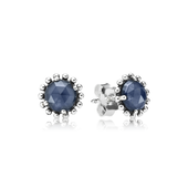 Midnight Star Stud Earrings, Midnight Blue Crystal