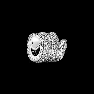 Charm Serpent enroulé scintillant