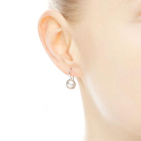 Gouttelettes lumineuses, perles de cristal blanches
