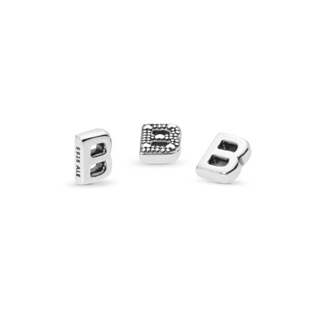 Letter B Petite Charm, Sterling silver - PANDORA - #797319