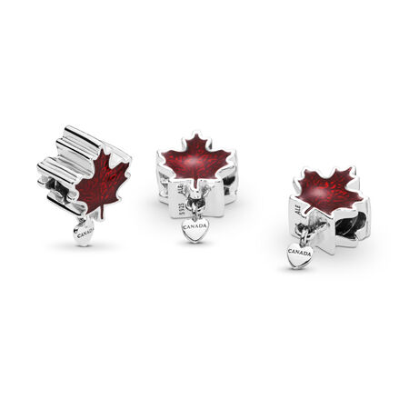 Love Canada Charm, Red Enamel, Sterling silver, Enamel, Red - PANDORA - #797207EN07