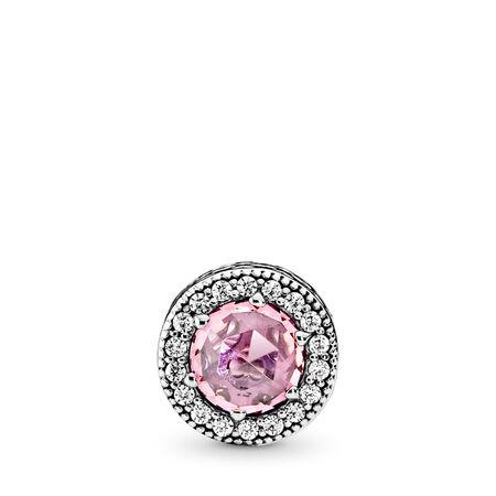 APPRÉCIATION, cz rose et incolore, Argent sterling, Silicone, Rose, Zircon cubique - PANDORA - #796082PCZ