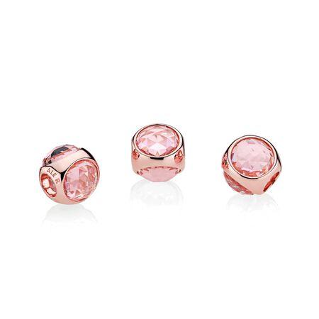 Gouttelette brillante, PANDORA RoseMC et cristaux brouillard rose