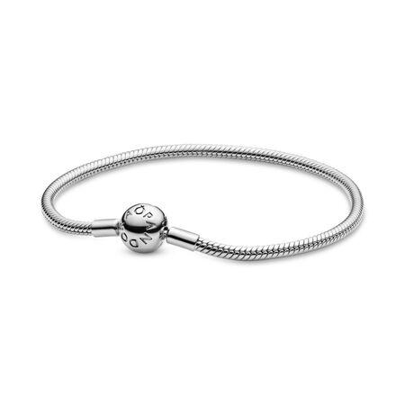 Moments Snake Chain Bracelet, Sterling silver - PANDORA - #590728
