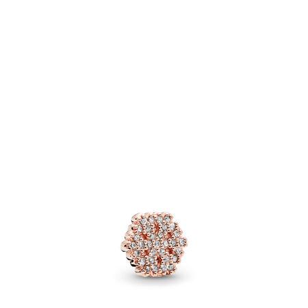 Mini Flocon de neige chatoyant, PANDORA RoseMC et cz incolore, PANDORA ROSE, Aucun autre matériel, Aucune couleur, Zircon cubique - PANDORA - #782166CZ