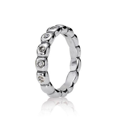 Silver ring, cubic zirconium