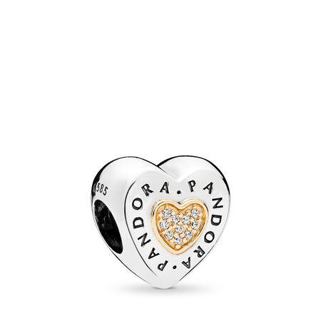 PANDORA Signature Heart, Clear CZ