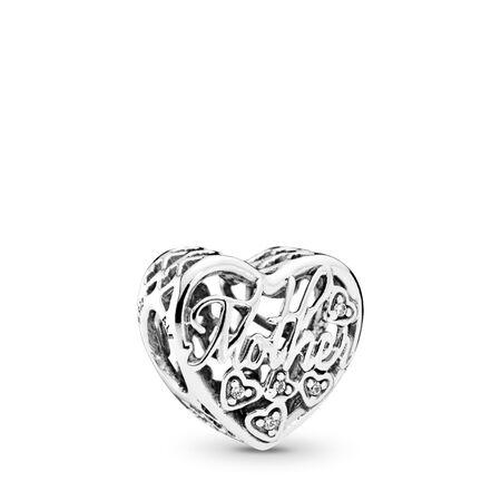 Mother & Son Bond, Clear CZ, Sterling silver, Cubic Zirconia - PANDORA - #792109CZ