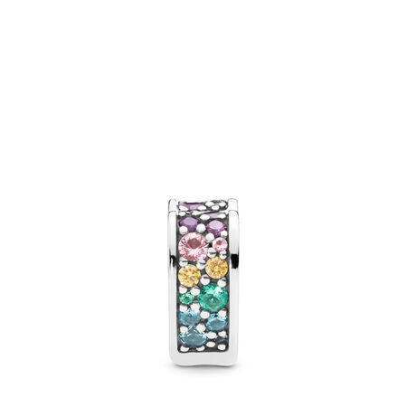 Multi-Coloured Arc of Love Clip, Multi-coloured CZ & Crystals