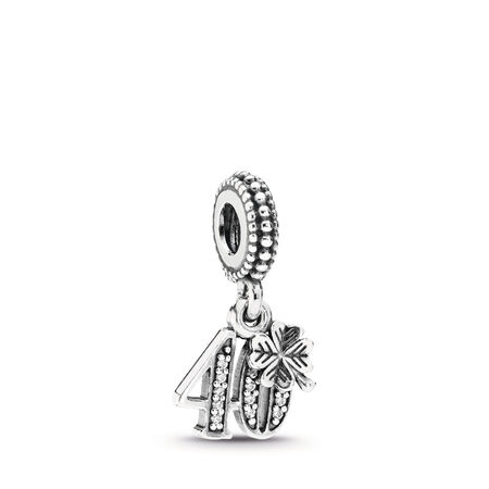 40 Years Of Love, Clear CZ, Sterling silver, Cubic Zirconia - PANDORA - #791288CZ