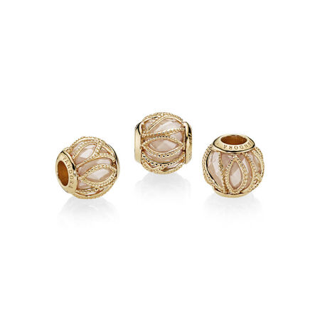 Intertwining Radiance Charm, PANDORA Shine™ & Golden coloured CZ
